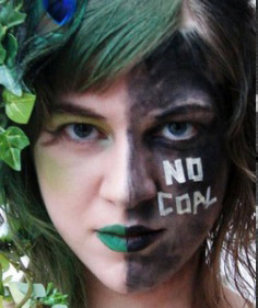 No Coal facepaint