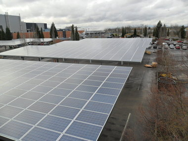 Intel solar arrays in Hillsboro