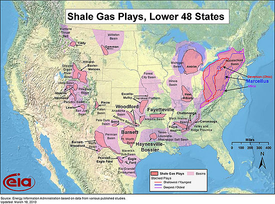 Shale Gas Map