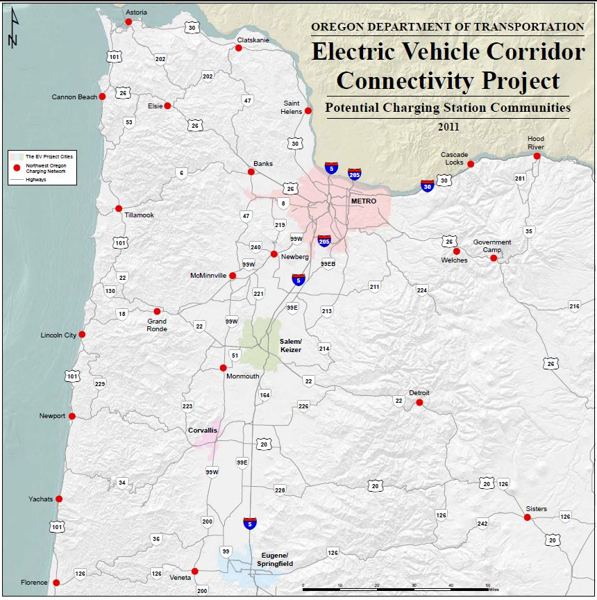 Electric vehicle charge stations proposed for Oregon